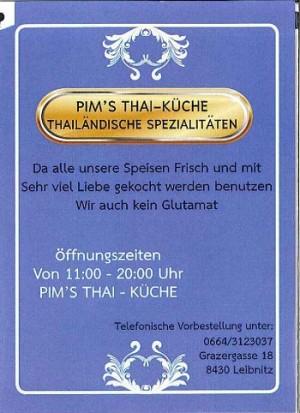 PIM´S Thaiküche-Thailändische Spezialitäten