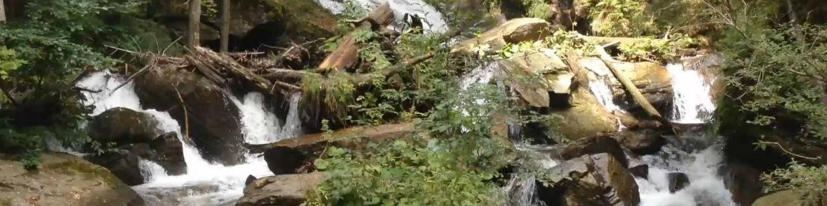 Panorama von Wasserfall der Weissen Sulm in Wielfresen