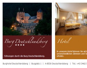 Burg Deutschlandsberg - Hotel Restaurant ****