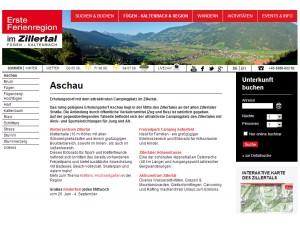 Aschau im Zillertal - Erste Ferienregion im Zillertal