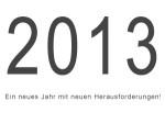 Ein neues Jahr mit neuen Herausforderungen!
